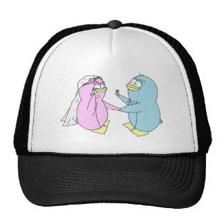 Wedding Penguins Trucker Hat