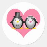 Wedding Penguins Stickers