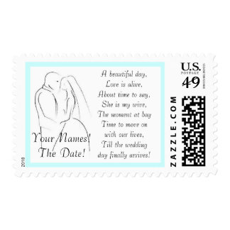 Wedding peom with name and date - ... - Customized Postage