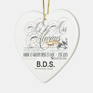 Wedding Personalized Keepsake Favors Ceramic Ornament