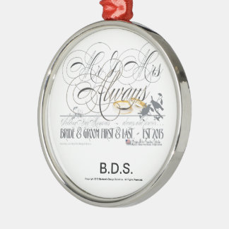 Wedding Personalized Keepsake Favors Metal Ornament