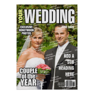Wedding Personalized Magazine Cover Poster