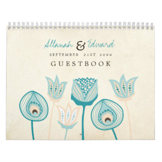 Wedding Personalized Photo Guest Book Guestbook Calendar