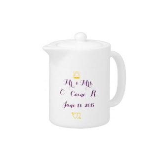 Wedding Personalized Teapot