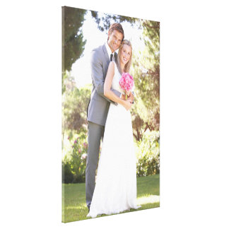 Wedding Photo [24x36] inches Stretched Canvas Print