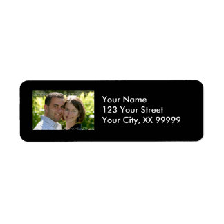 Wedding Photo Address Labels in Black