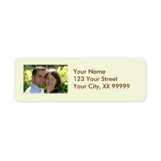 Wedding Photo Address Labels in Cream
