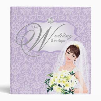 Wedding Photo Album Binder Bride Purple