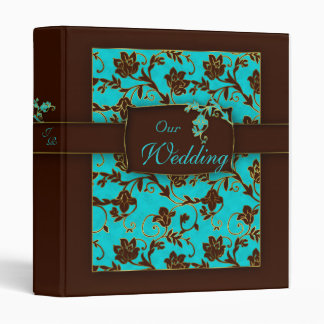 Wedding Photo Album Binder Gold Floral