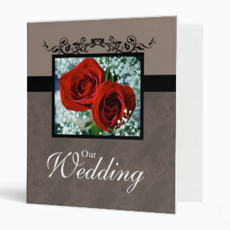 Wedding Photo Album Binder Red Roses