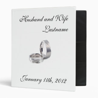 Wedding Photo Album - Customizable 3 Ring Binders
