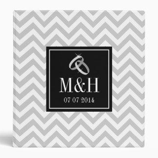 Wedding photo album | Gray chevron pattern binder