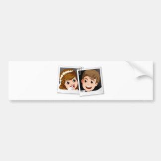 Wedding photo bumper sticker
