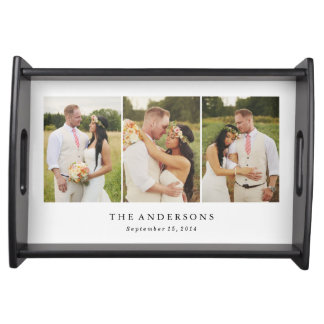 Wedding Photo Collage | Serving Tray