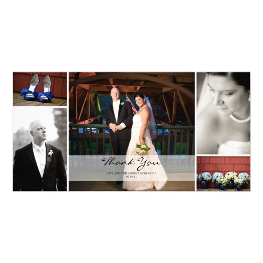 Wedding Photo Collage - Thank You Card