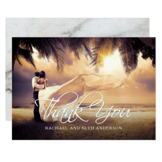Wedding Photo Custom Thank You Card