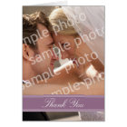 Wedding Photo Custom Thank You Card (purple)