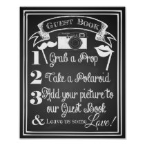 Wedding photo guest book sign chalkboard