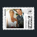 "Wedding Photo Initials PhotoStamp by Stamps.com<br><div class=""desc"">Thank all your family and friends for coming to your wedding with custom postage. Personalize by uploading your own wedding photo and adding your initials.</div>"