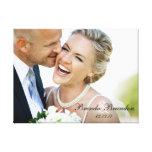 Wedding Photo Keepsake Canvas Gallery Wrap Canvas