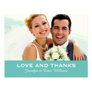 Wedding Photo Love and Thanks Cards | Custom Color