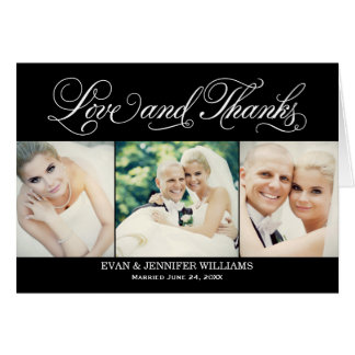 Wedding Photo Love and Thanks   Folded Style Stationery Note Card