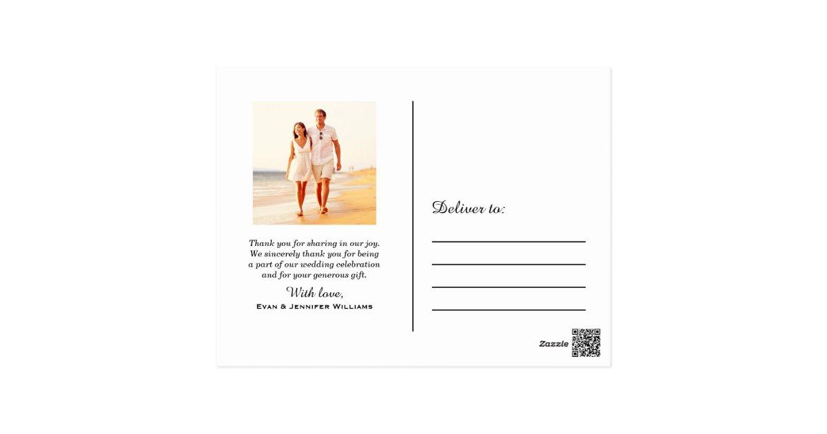 Wedding Photo Note Cards Mr And Mrs Monogram Zazzle