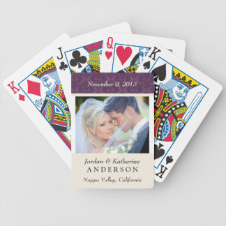 Wedding Photo Personalized Playing Cards