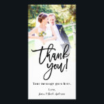 """Wedding Photo Picture Thank You Classy Modern Card<br><div class=""""desc"""">Customize with your photo and any text</div>"""