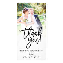Wedding Photo Picture Thank You Classy Modern Card