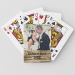 Wedding Photo Playing Cards at Zazzle