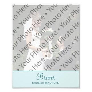 Wedding Photo Prints with Custom Text Photo
