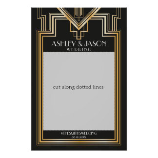 Wedding Photo Prop   Gatsby inspired party Poster