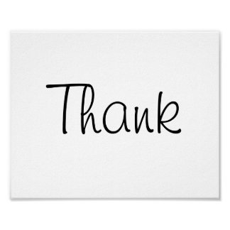 "Wedding photo prop sign ""Thank"" of ""Thank You"""