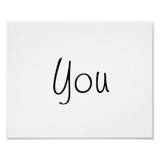 "Wedding photo prop sign ""You"" of ""Thank You"""