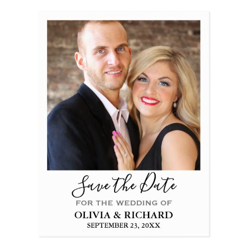 Wedding Photo Save The Date Announcement Postcard