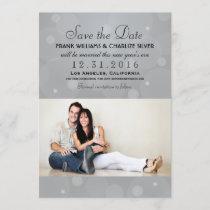 Wedding Photo Save the Date | Platinum Gray