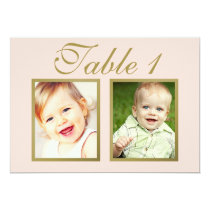 Wedding Photo Table Number   Blush Pink and Gold