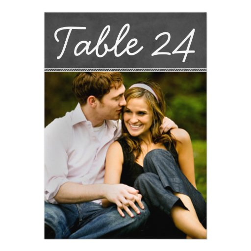 Wedding Photo Table Number Cards | Chalkboard