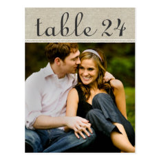 Wedding Photo Table Number Cards | Custom Template at Zazzle