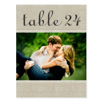 Wedding Photo Table Number Cards   Custom Template