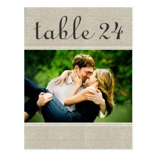 Wedding Photo Table Number Cards | Custom Template Postcard