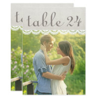 Wedding Photo Table Number Cards | Linen and Lace