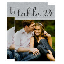Wedding Photo Table Number Cards | Rustic Gray
