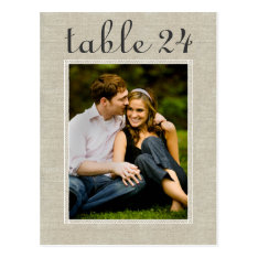 Wedding Photo Table Number   Custom Template Postcard at Zazzle