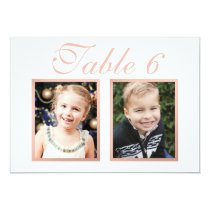 Wedding Photo Table Number | Elegant Rose Gold