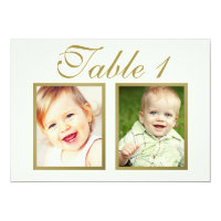Wedding Photo Table Number | Ivory and Gold