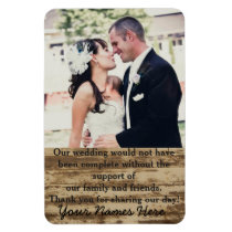 Wedding Photo Template Thank you Magnet