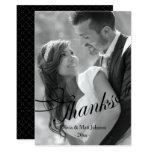 Wedding Photo Thank You Card - Black Overlay