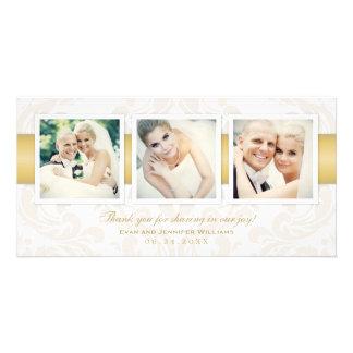 Wedding Photo Thank You Cards | Three Photos Photo Card